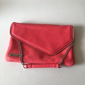 Nine West Coral Clutch with Chain Strap